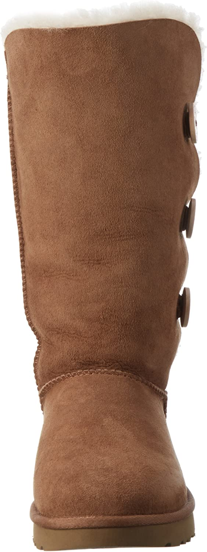 UGG W Bailey Button Triplet II, Zapatillas Altas para Mujer Chestnut 2Qlwv