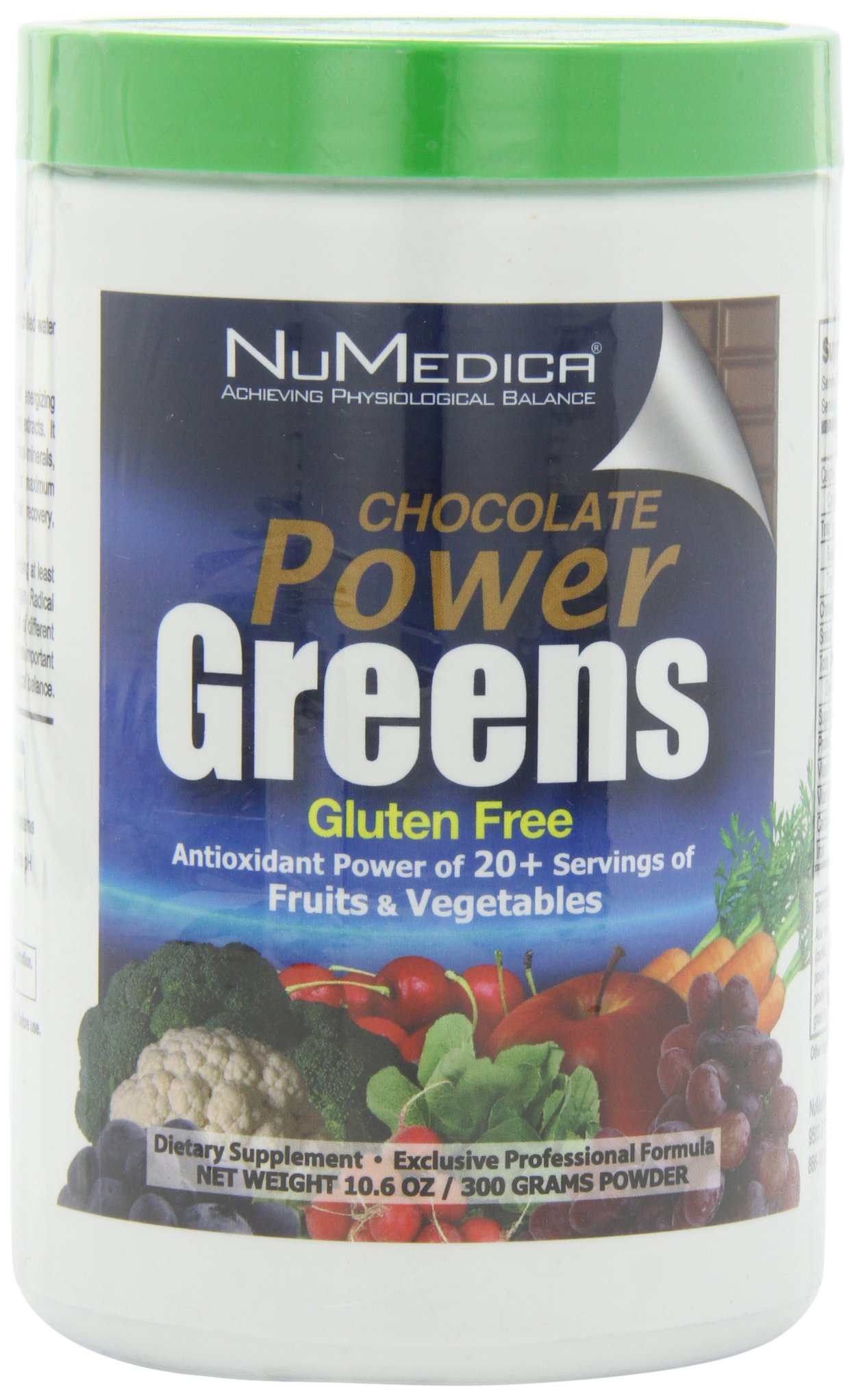 NuMedica - Power Greens Chocolate - 300 Grams / 30 Servings