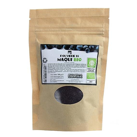 Erbavoglio Maqui en Polvo - 100 gr: Amazon.es: Alimentación ...