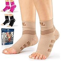 Powerlix Nano Socks for Neuropathy (Pair) for Women & Men, Ankle Brace Support, Plantar fasciitis socks, Toeless…