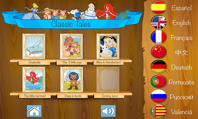 Cuentos clásicos infantiles – Libro interactivo para niños