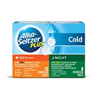 Alka-Seltzer Plus Day and Night Cold Medicine Effervescent Tablets with Pain Reliever...