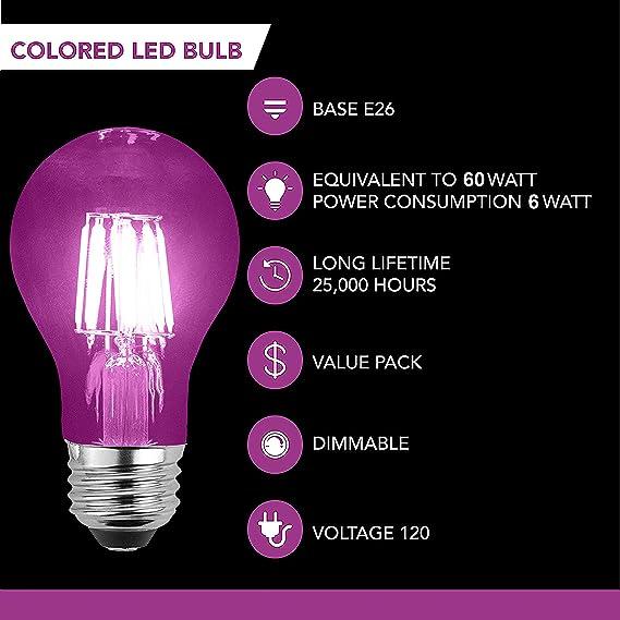 Amazon.com: SleekLighting - Bombillas LED de 6 W filamento ...