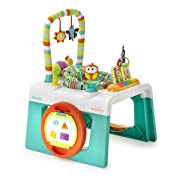 Kolcraft 1-2-3 Ready-to-Grow Infant & Toddler Activity Center with English & Spanish Modes, Flutter Bugs