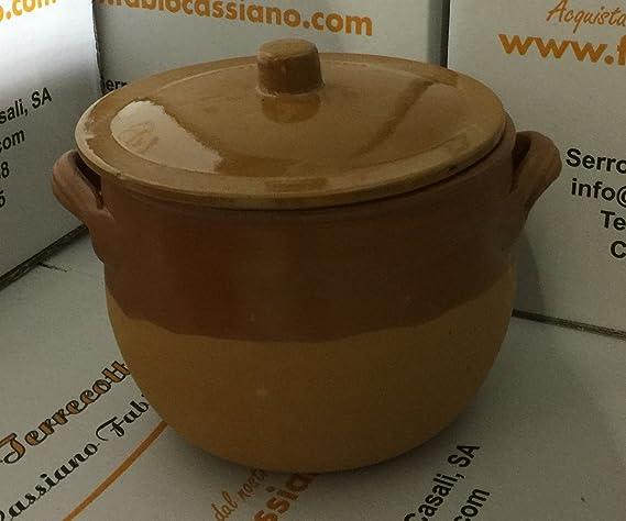 le terrecotte di cassiano fabio Olla para cocción Lenta LT5 de cerámica: Amazon.es: Hogar