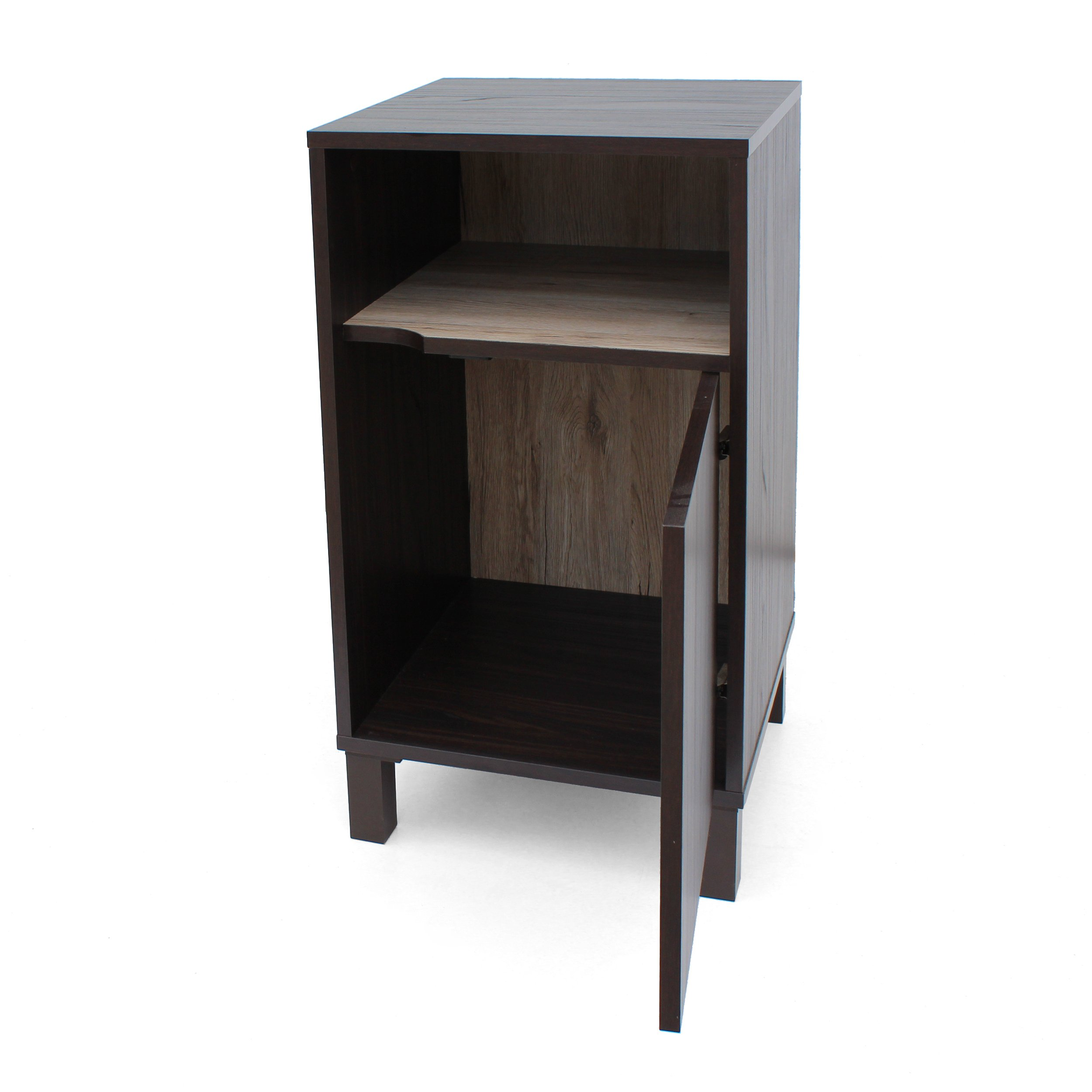 Christopher Knight Home 303655 Linnea Wood Cabinet, Walnut/Sanremo Oak/Brown by Christopher Knight Home (Image #6)