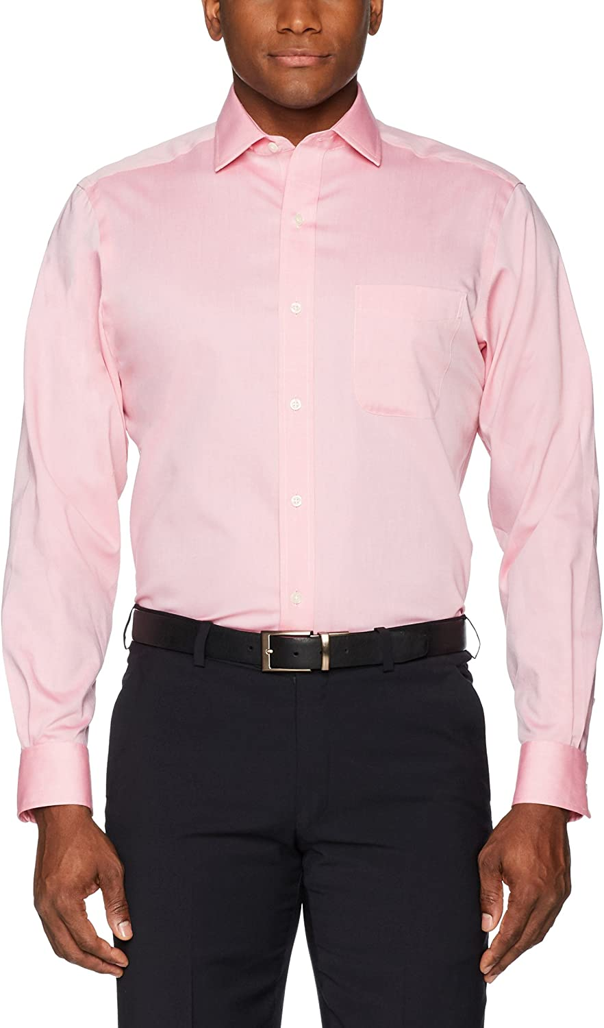 Buttoned Down Mens Standard Classic Fit Spread Collar Solid Non-Iron Dress Shirt