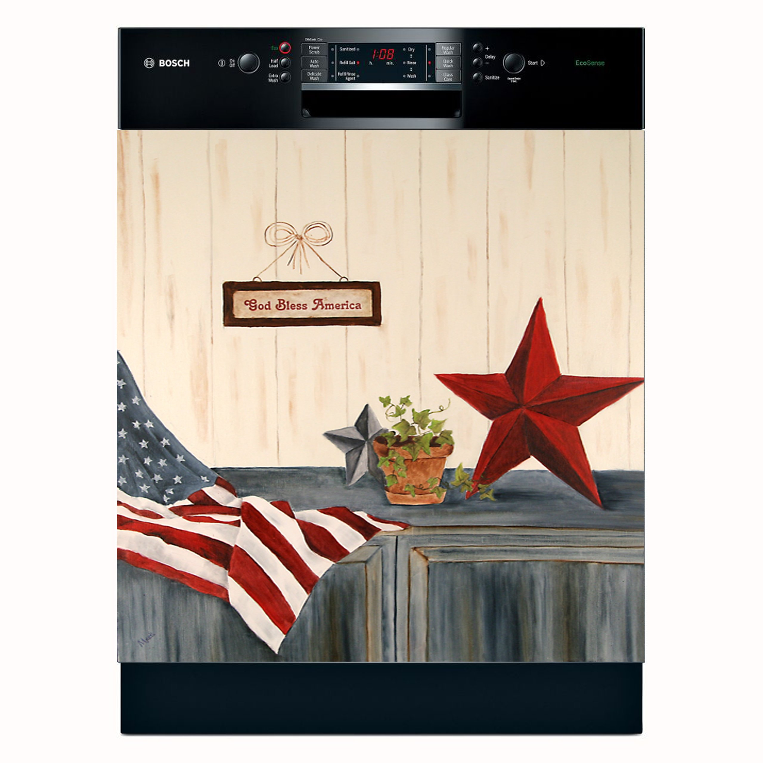 Stars & Stripes Dishwasher Magnet Cover (Large) by APPLIANCE ART