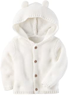 Carters Baby Textured Bear Hoodie Ivory 12 Months