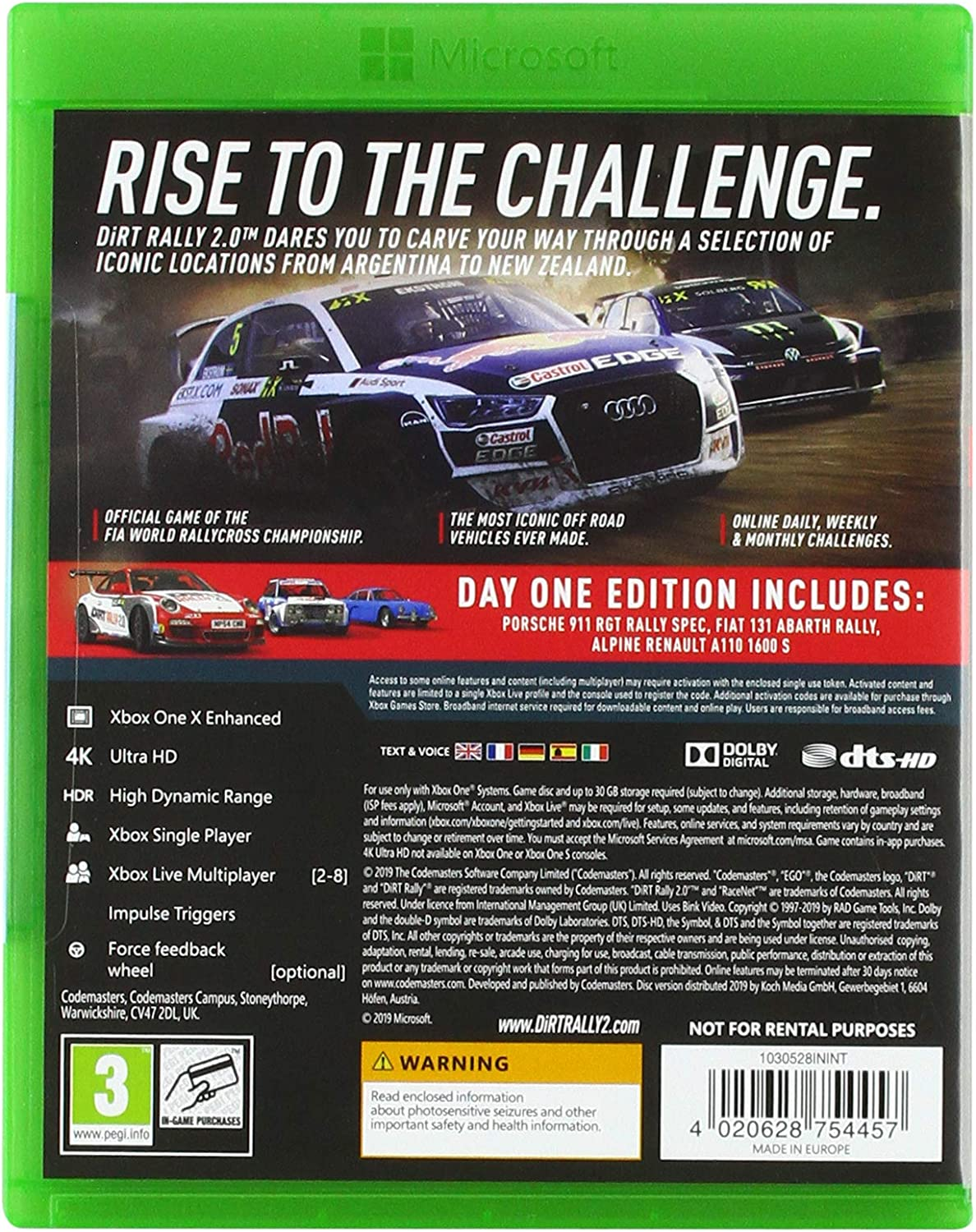 Dirt Rally 2.0 - Day One Edition: Amazon.es: Videojuegos