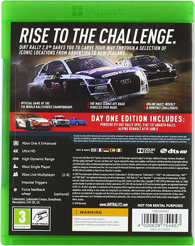 Dirt Rally 2.0 - Day One Edition: Amazon.es: Videojuegos