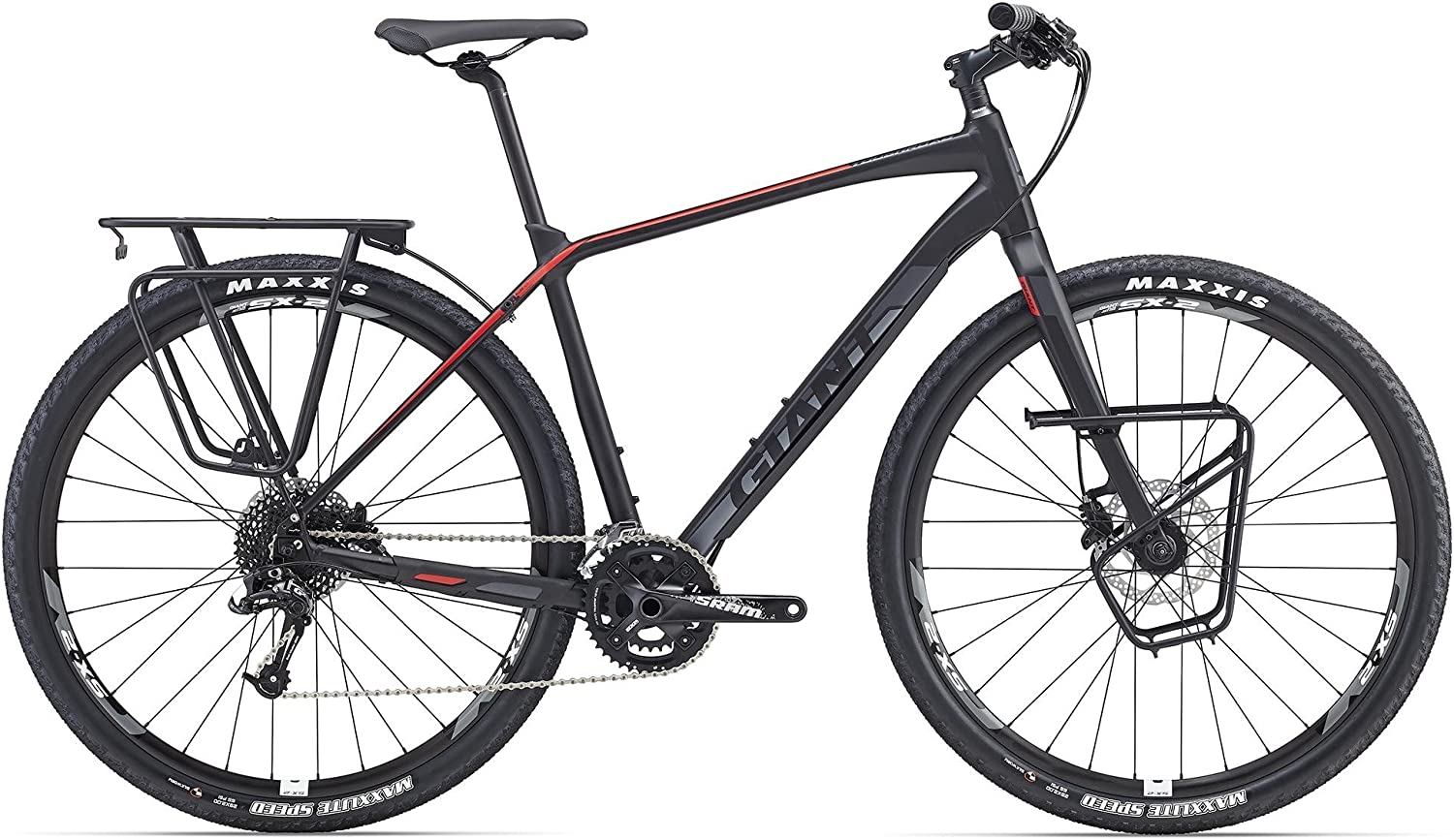GIANT Tough Road SLR 1 71.12 cm Bicicleta de Colour Negro/Rojo ...