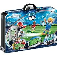PLAYMOBIL Sports and Action Campo de Fútbol Maletín, con Soporte para Smartphone, a Partir de 5 Años (70244), Multicolor