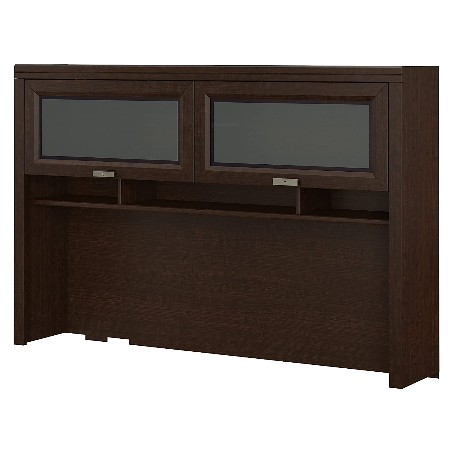 Bush Furniture Tuxedo Hutch for L Shaped Desk in Mocha Cherry WC21831