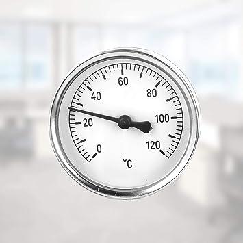 term/ómetro para calefacci/ón Lantelme anal/ógico term/ómetro de instalaci/ón de tuber/ías tubos de climatizaci/ón 7951 bimetal Term/ómetro de colocaci/ón 0 hasta 120 /°C
