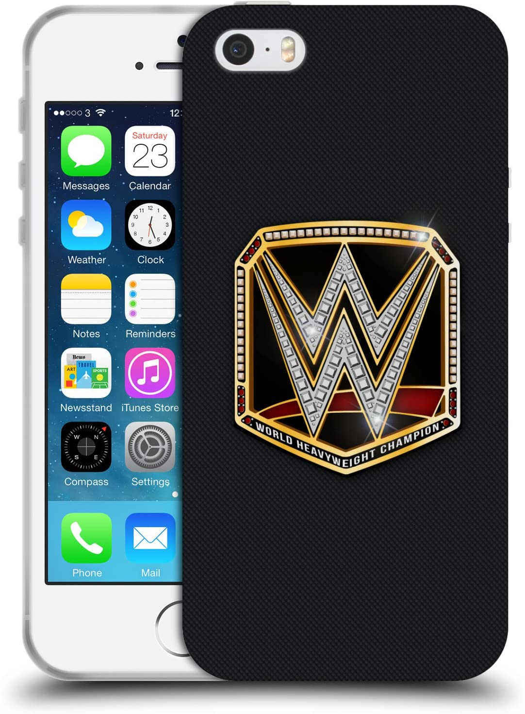 B01N3AHG0L Head Case Designs Officially Licensed by WWE World Heavyweight Champion Title Belts Soft Gel Case Compatible with Apple iPhone 5 iPhone 5s iPhone SE 81K9gzD6vwL