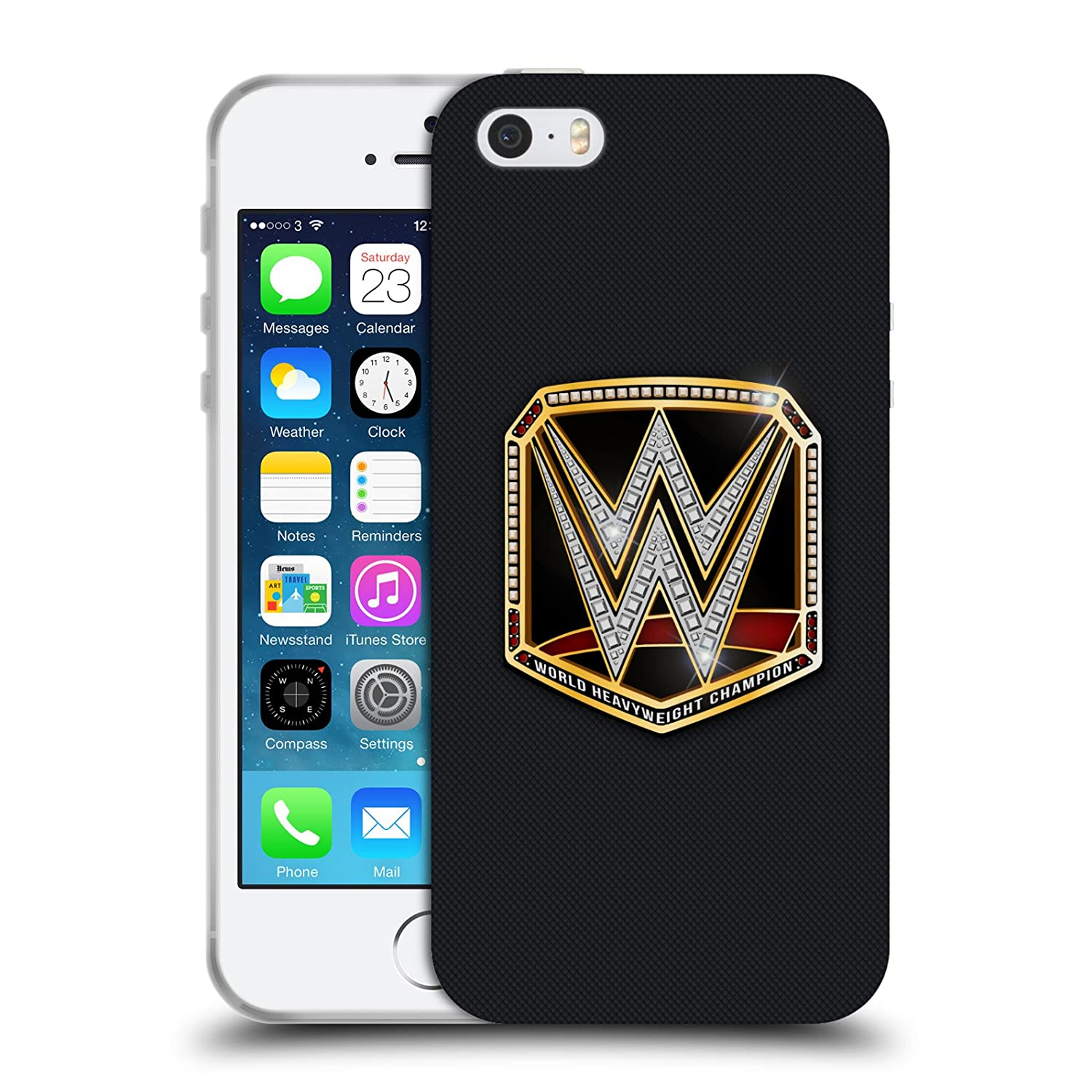 Official WWE World Heavyweight Champion Title Belts Soft Gel Case for iPhone 5 iPhone 5s iPhone SE