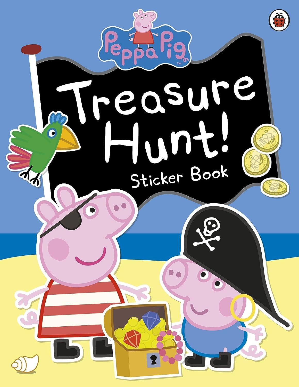 Peppa Pig Treasure Hunt An Oversize Sticker Book Ladybird