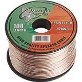 Pyramid RSW12100 12 Gauge 100 Feet Spool of High Quality Speaker Zip Wire