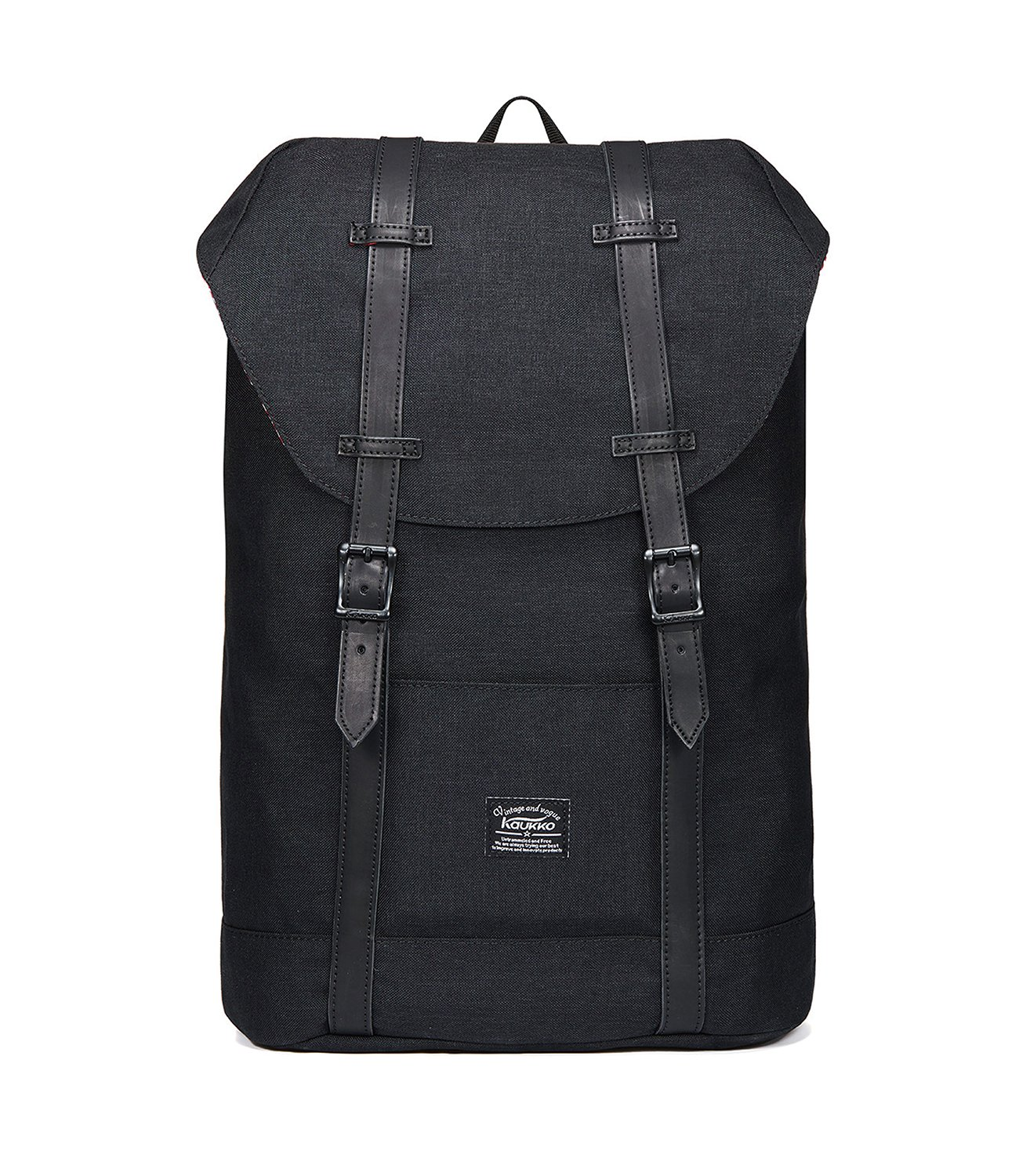 Lightweight Outdoor Travel Backpack Casual Hiking&Camping Rucksack School Daypack Laptop Backpack for 15'' Laptop & Tablets by KAUKKO(LINEN-BLACK)