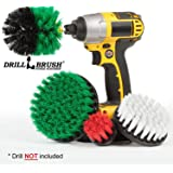 Drillbrush Cleaning Brush Drill Attachment Kit - Drill Powered Scrubber Brush Attachments - Time Saving Cleaning Kit - Great for Cleaning Furniture, Kitchen, Flooring, Brick, Grout, and Much More