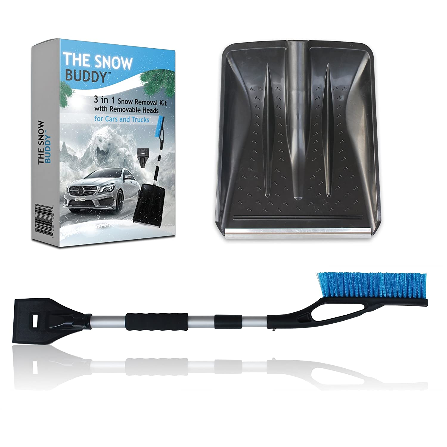 Amazon.com: Snow Buddy 3-in-1 Snow Removal Kit for Cars and Trucks ...
