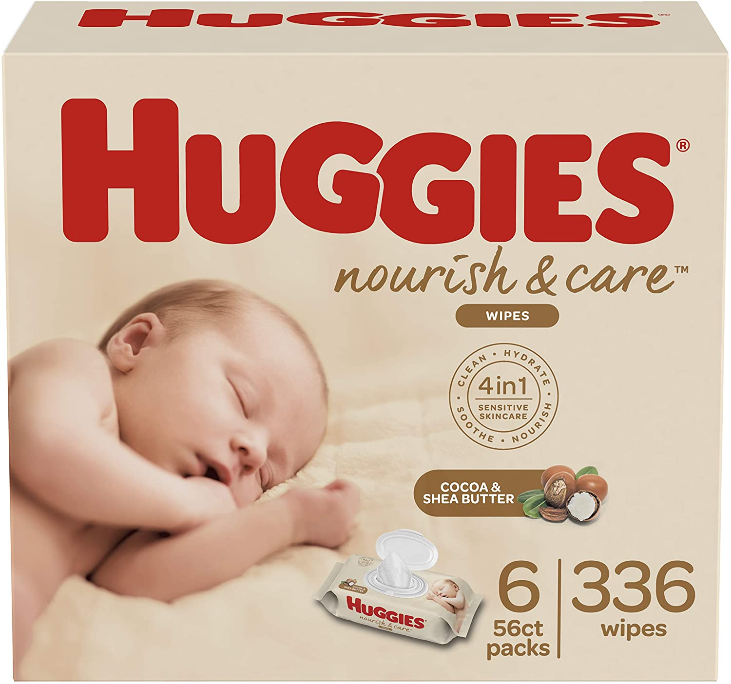 Huggies Natural Care Extra Care Baby Wipes 12 Packs 672 Wipes