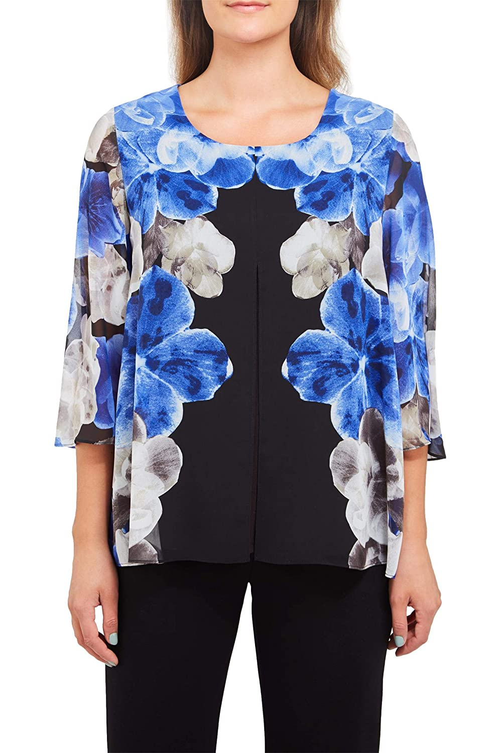 Plus Floral Scoop Neck Blouse Nygard 4S4G6604