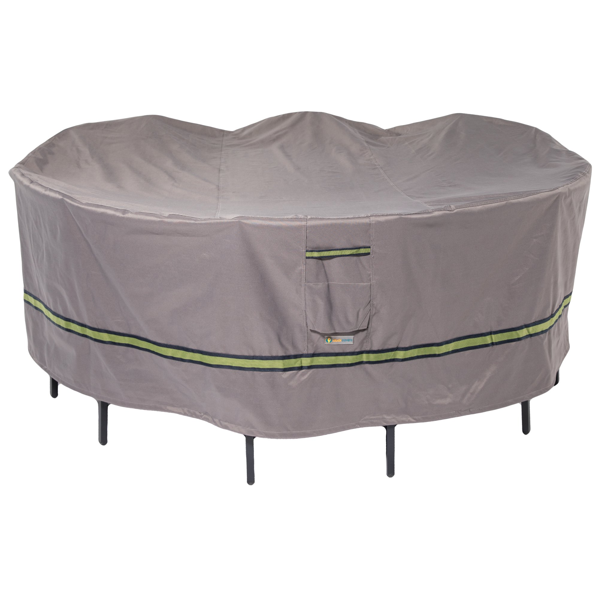 Duck Covers Soteria Rainproof 108'' Round Patio Table with Chairs Cover