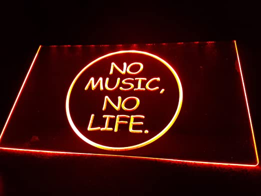 Zhengdian Electronic No Music No Life Bombilla LED Cartel Cartel Cargar Reklame Neon Neon Cartel Bar Discoteca on Air TV Radio