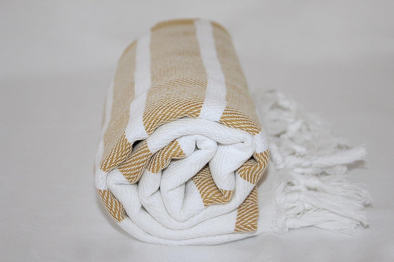 Tablecloth TROY Authentic Turkish Peshtemal Fouta Bold Stripe Bath Beach Towel