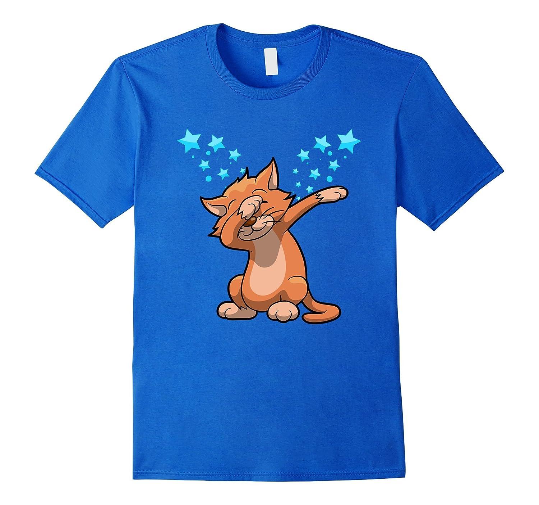 Cat Dab Funny Kitty Dabbing Stars Graphic T-Shirt-TH