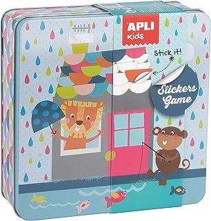 APLI Kids - Caja metálica con juego de gomets Casa