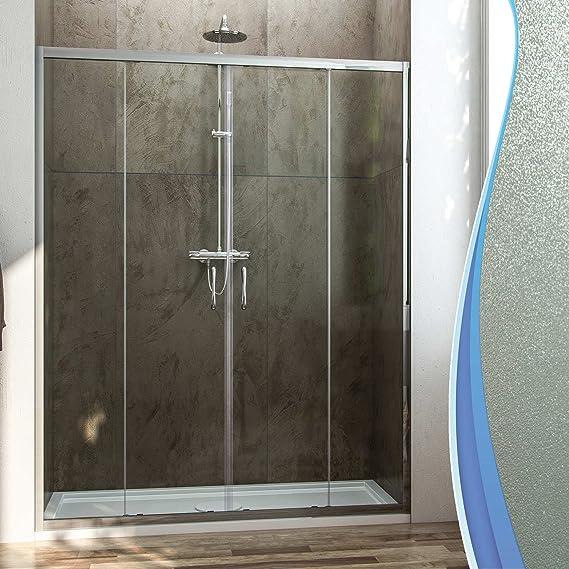 Fosterberg Kolding - Puerta para ducha, con 2 hojas correderas, de ...