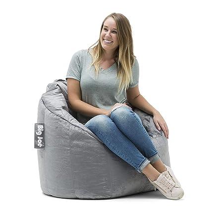 Big Joe Milano Bean Bag Chair, Multiple Colors – 32 x 28 x 25 – Gray Plush