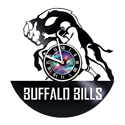 steparthouse buffalo bills handmade vinyl record wall clock get unique gifts presents for birthday