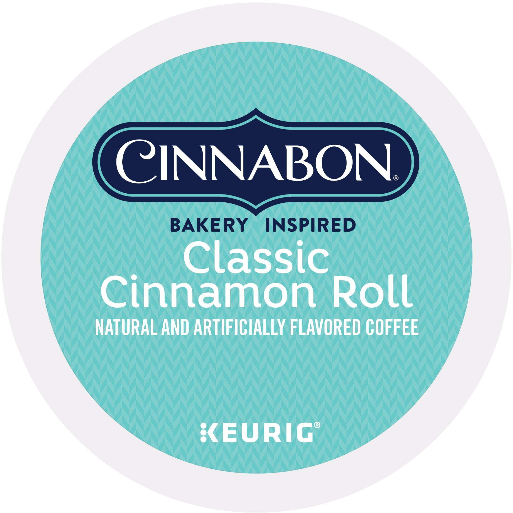 Cinnabon Classic Cinnamon Roll Coffee Keurig Single-Serve K-Cup Pods, 72 Count (6 Boxes of 12 Pods)