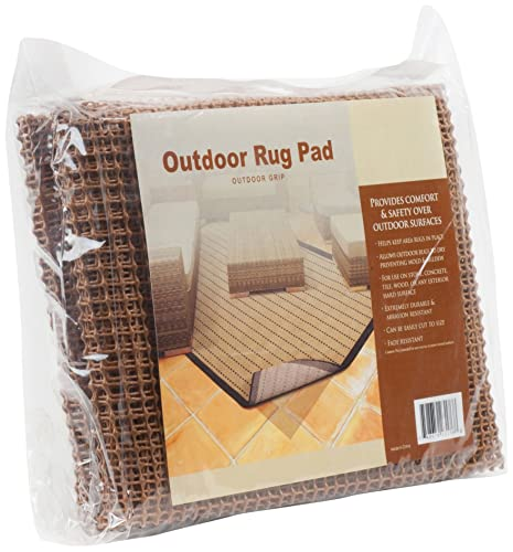 Outdoor Grip Non Skid Area Rugs Pad 6-Feet by 9-Feet Rug