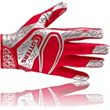 Cutters S251 REV 2.0 American Football Receiver Handschuh, rot, Gr. S-2XL
