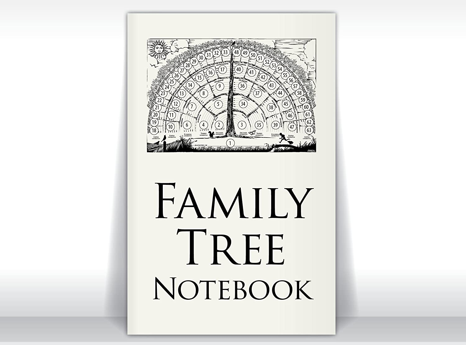 Family Tree Notebook, 2-books-per-order gifts for baby, men, women, grandparents, in-laws, children for genealogy memories/ancestor stories.
