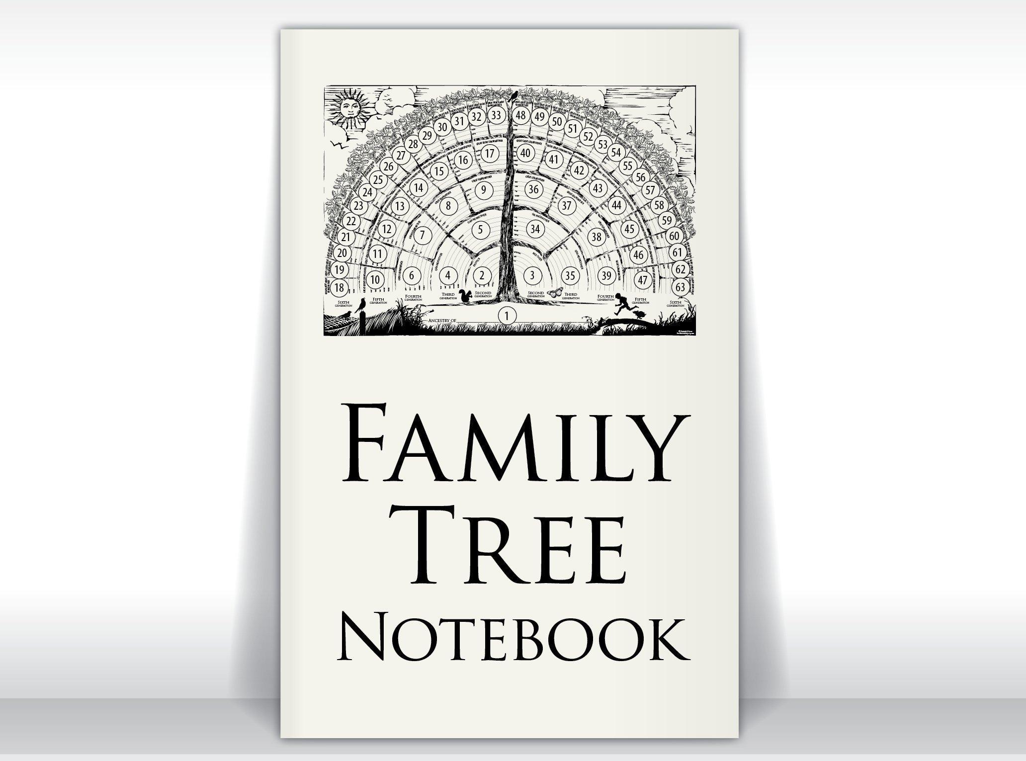 Family Tree Notebook, 2-books-per-order gifts for baby, men, women, grandparents, in-laws, children for genealogy memories/ancestor stories. by FreshRetroGallery