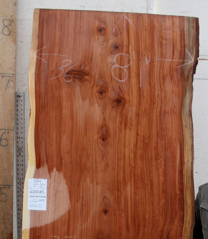 Amazon.com: Live Edge Dining Tabletop Natural Redwood Raw Wood Slab Kitchen  Island Custom Furniture Unique Desk Top DIY Table Unfinished Lumber 6200d1:  ...