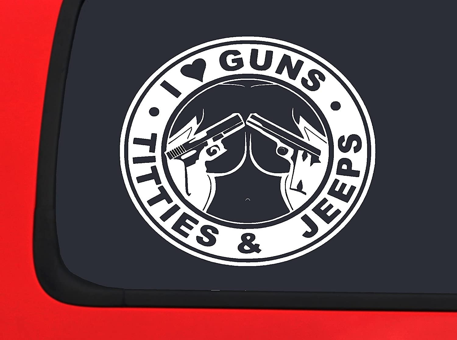 Jeep 4x4 Windshield Decal - This Side Up! (White)