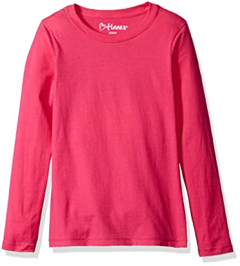 Amazon.com: Hanes Big Girls' ComfortSoft Long Sleeve Tee: Clothing