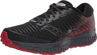 Saucony Guide 13 TR Zapatillas para Correr sobre Camino de Tierra o Montaña con Soporte Neutral para Hombre Negro Rojo: Amazon.es: Zapatos y complementos