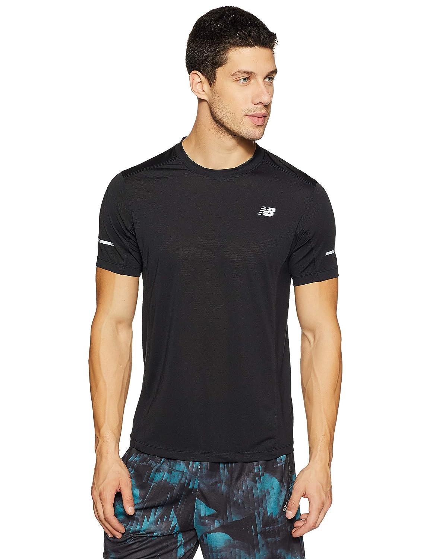 New BalanceメンズNB dryshortスリーブ5 K Run Tech Teeシャツ X-Large ブラック B01NCOKT3V