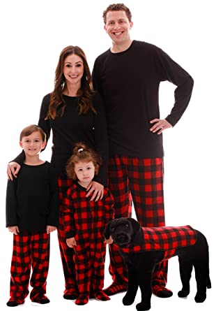 92bdd2217f Amazon.com   followme Matching Buffalo Plaid Pajamas for Family ...