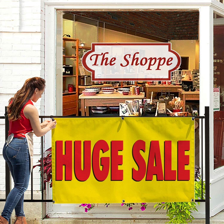 Includes Zip Ties HALF PRICE BANNERS Huge Sale Vinyl Banner -Mesh Wind Resistant 3X6 Foot -Yellow Easy Hang Sign-Made in USA