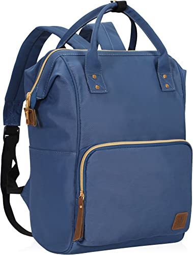 Veegul Wide Open Multipurpose Travel Backpack Lightweight Casual Daypack 18L Navy Blue