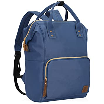6b37b8d6d784 Veegul Wide Open Multipurpose Travel Backpack Lightweight Casual Daypack  18L Navy Blue